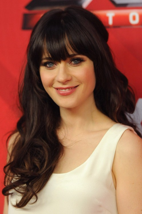 Zooey-Deschanel-Long-Hairstyle-Parted-Curls